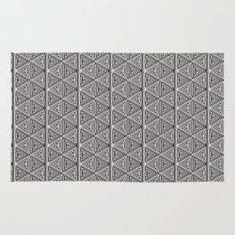 Grey Snowflakes Rug