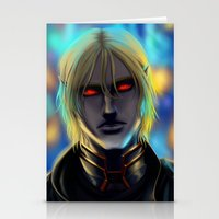 cyberpunk Stationery Cards featuring Cyberpunk Elf Vampire by Sandra Danborg