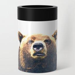 Bear portrait Can Cooler