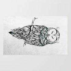 Poetic Snow Owl Rug