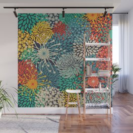 Floral Pattern, Bloom Mix, Colorful Wall Mural