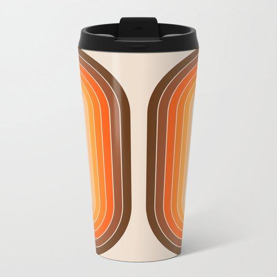 Tan Tunnel Metal Travel Mug