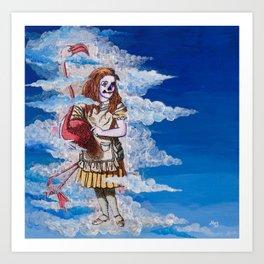 Alice in Clouds Art Print
