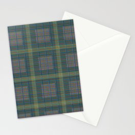 Plaid Pencil Crayon Pattern Stationery Cards