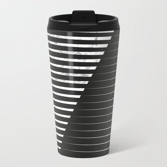 Black vs. White Metal Travel Mug