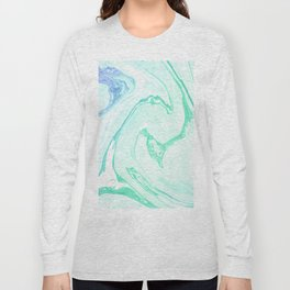 Green Marble Long Sleeve T-shirt