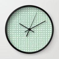 polka dots Wall Clocks featuring polka dots by JesseRayus