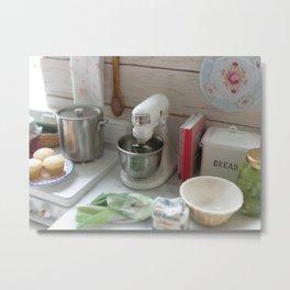 Cooking in Miniature  Metal Print