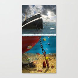 View into the underwater world Canvas Print