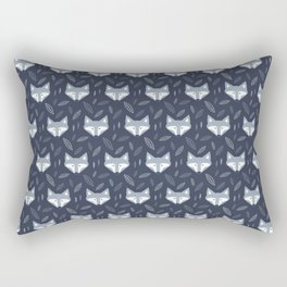 Blue Fox at Forest Rectangular Pillow