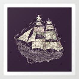 Wherever the wind blows Art Print