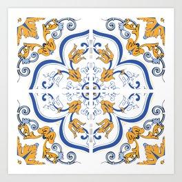 Azulejo Portugues 2 Art Print