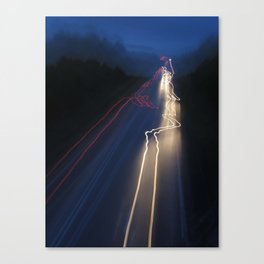 Whizzing Lights Canvas Print