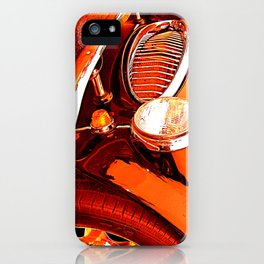 Austin Healey Vintage Car Red Effect iPhone Case