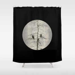 A Full Moon Night Shower Curtain