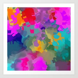 abstract floral with violet Art Print