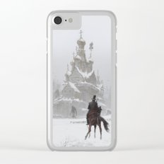 where the ancient pagan temple had once stood Clear iPhone Case