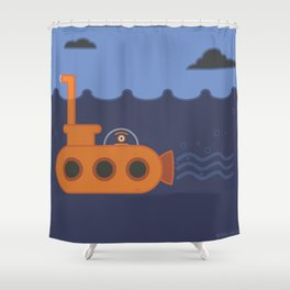 20 thousand leagues under the eye Shower Curtain