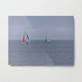 part 1 of 4 of Sailing Battle 42-56  - Transat Quebec St-Malo Metal Print