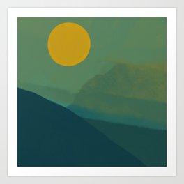 The Hills Felt Green That Evening Art Print