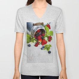 Fresh Berries Unisex V-Neck