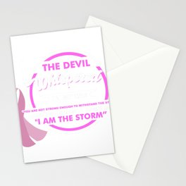 I AM THE STORM - Breast Cancer warrior Shirt Stationery Cards