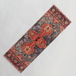 Kashan Poshti Central Persian Rug Print Yoga Mat