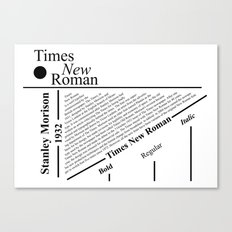 The Times New Roman Canvas Print