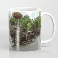 bicycles Mugs featuring Bicycles, Bicycles by Emily O