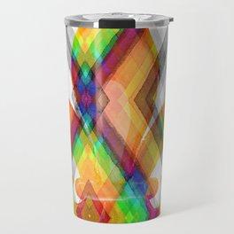 Fleur De Lis Diamond Pattern Travel Mug