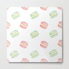 Pistachio and Rose Macarons Metal Print