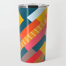 Colorful blocks Travel Mug