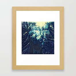 Forest Bubble Happiness Framed Art Print