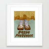 pride and prejudice Framed Art Prints featuring Pride and Prejudice by Elizabeth A