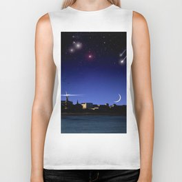 Lighthouse over the city. Biker Tank