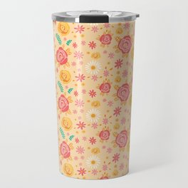 Peach Roses Travel Mug