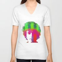 dylan V-neck T-shirts featuring Dylan by Kip Sikora