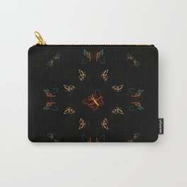 Christmas Lights Pattern - Butterfly Carry-All Pouch