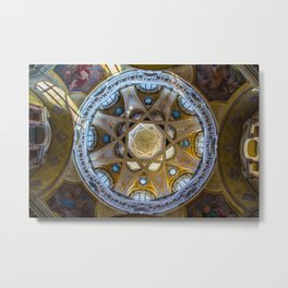 Dome of the church, Turin, Italy Metal Print