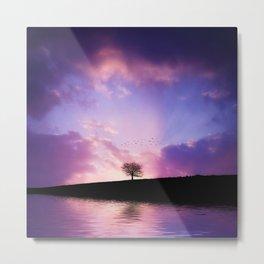 The sunset tree Metal Print