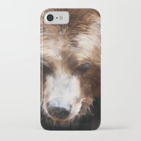 bear iPhone & iPod Cases featuring Bear // Gold by Amy Hamilton