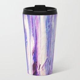 Aphrodite Falls / Purple Blue Abstract / Space Waterfall Travel Mug