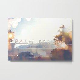 Palm Springs Bokeh Metal Print