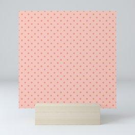 Pink Dots Pattern Mini Art Print