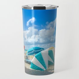 Miami beach cabanas and parasols Travel Mug