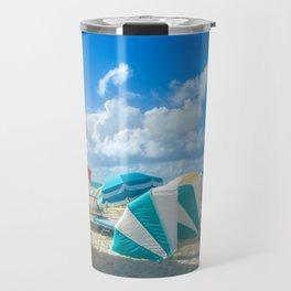 Miami beach cabanas and parasols Travel Mug