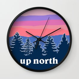 up north, pink hues Wall Clock