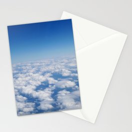 Blue Sky White Clouds Color Photography Stationery Cards