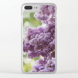 Violet Syringa vulgaris lila Clear iPhone Case