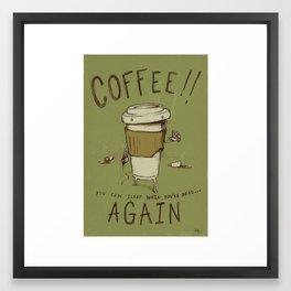 Zombie Coffee Framed Art Print